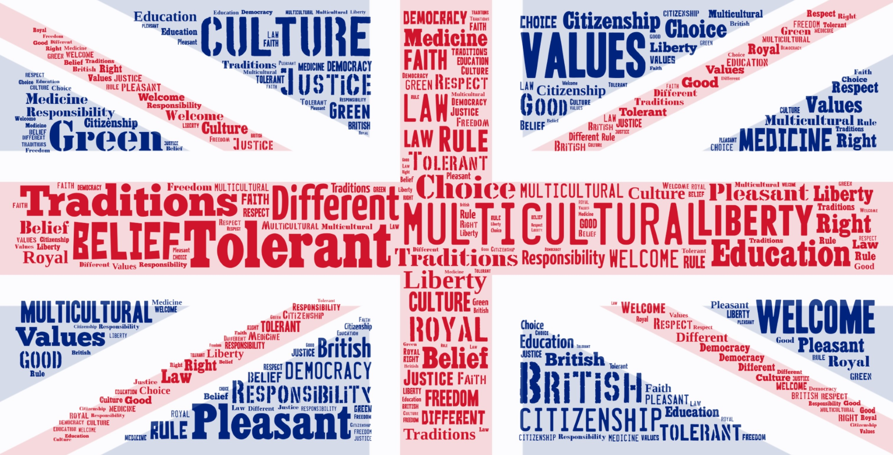 british values with background